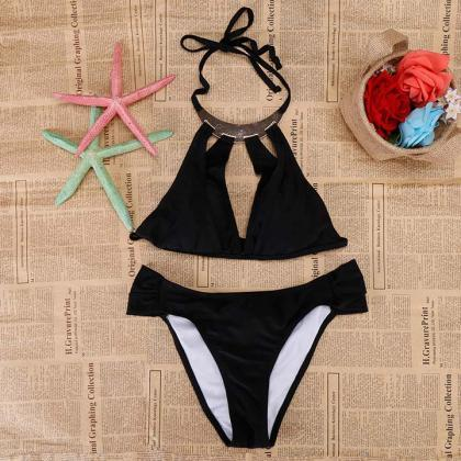 Cut Out Push Up Bikini Set
