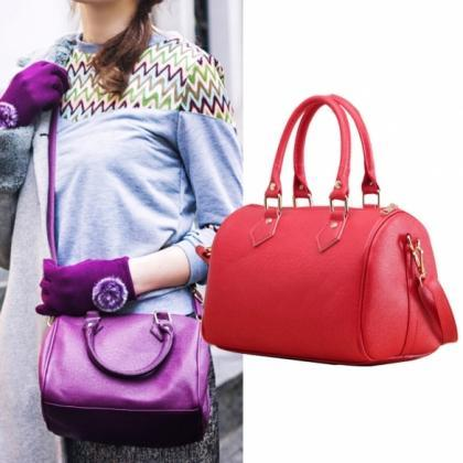 Women Synthetic Leather Handbag Sat..