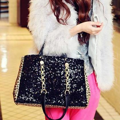 New Women Fashion Sequin Handbag Sa..