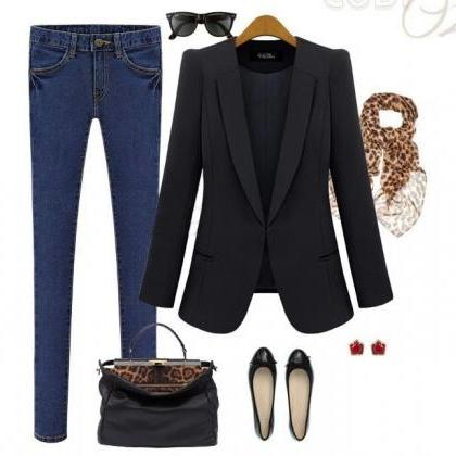 Turn-down Collar Slim Fashion Lapel..