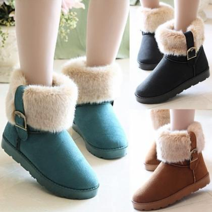 Women's Snow Boots Ankle Boots Warm..