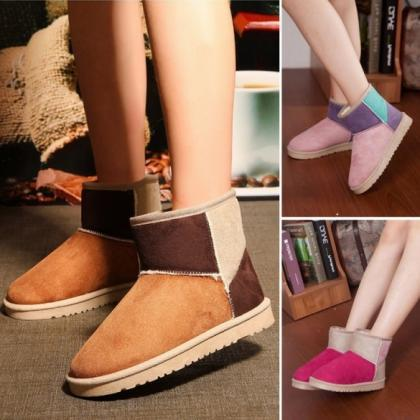 Women Candy Color Winter Warm Snow ..