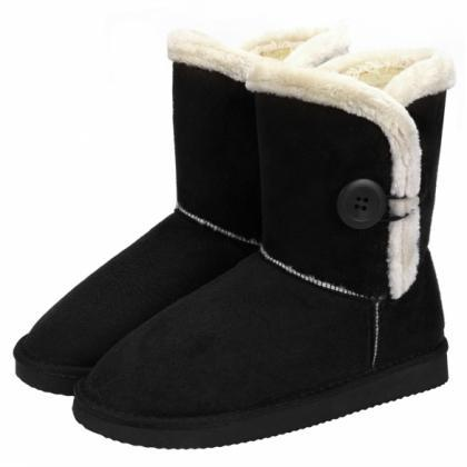 Women Winter Fashion Faux Fur Suede..