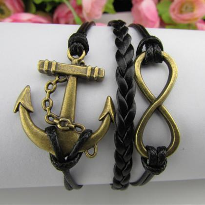 Fashion Multilayer Anchor Bracelet