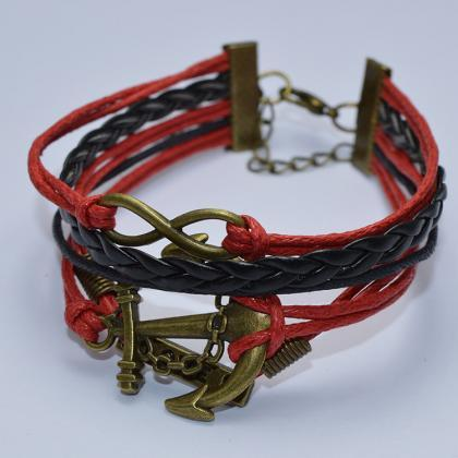 Retro Anchor Woven Multilayer Brace..