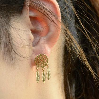 Dreamcatcher Hollow Out Feather Ear..