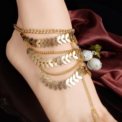 Exaggerate Multilayer Tassels Ankle..