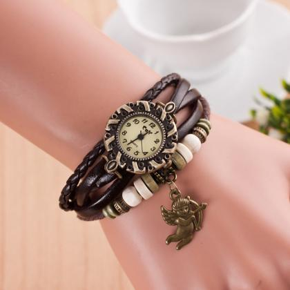Cupid Retro Fashion Punk Bracelet W..