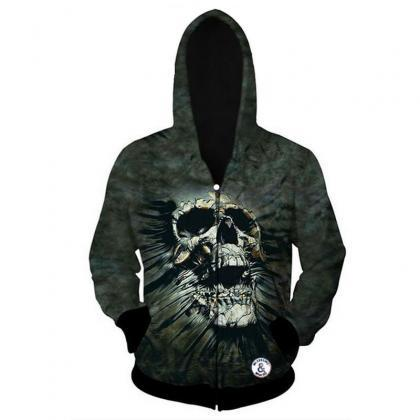 Digital Printing Green Skull Thread..