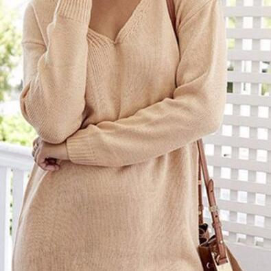 Fashion High Neck Pullover Knitting..