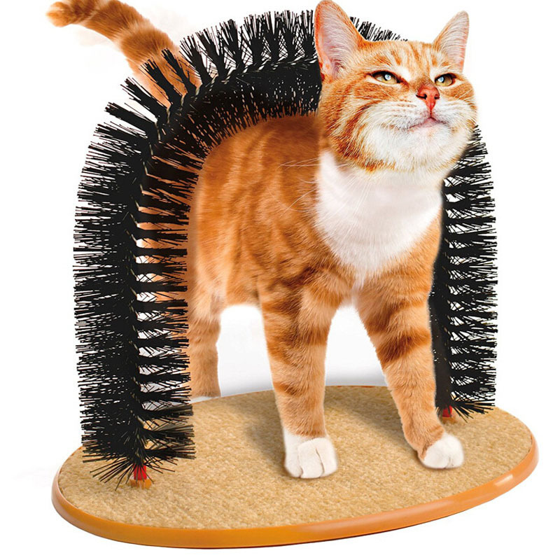 The Cat Scratch Brush Beauty Arch Type Rub Hair Remover Pet Cat Toys