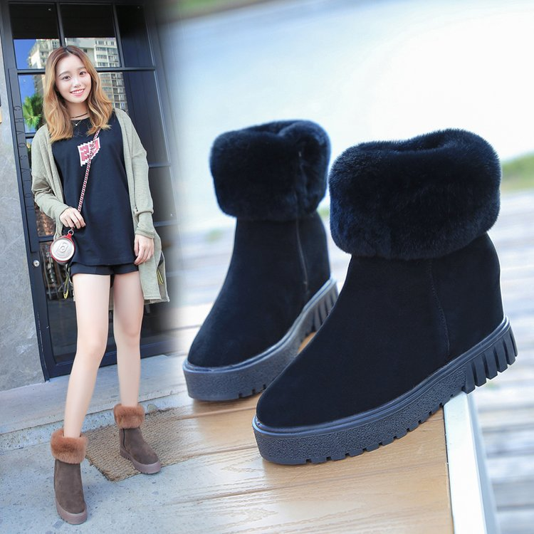 Suede Pure color Zipper Pointed Toe Boots