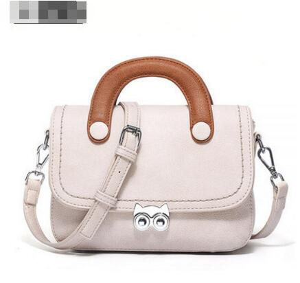 Color Block Latch Decoration Cross Body Bag