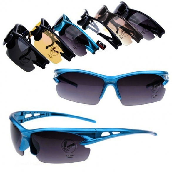 Cycling Riding Bicycle Bike UV400 Sports Sun Glasses Eyewear Goggles Night Vision Goggles