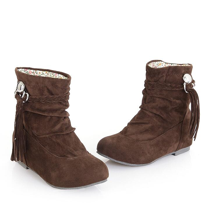 Fashion Tassel Increased Snow Boots