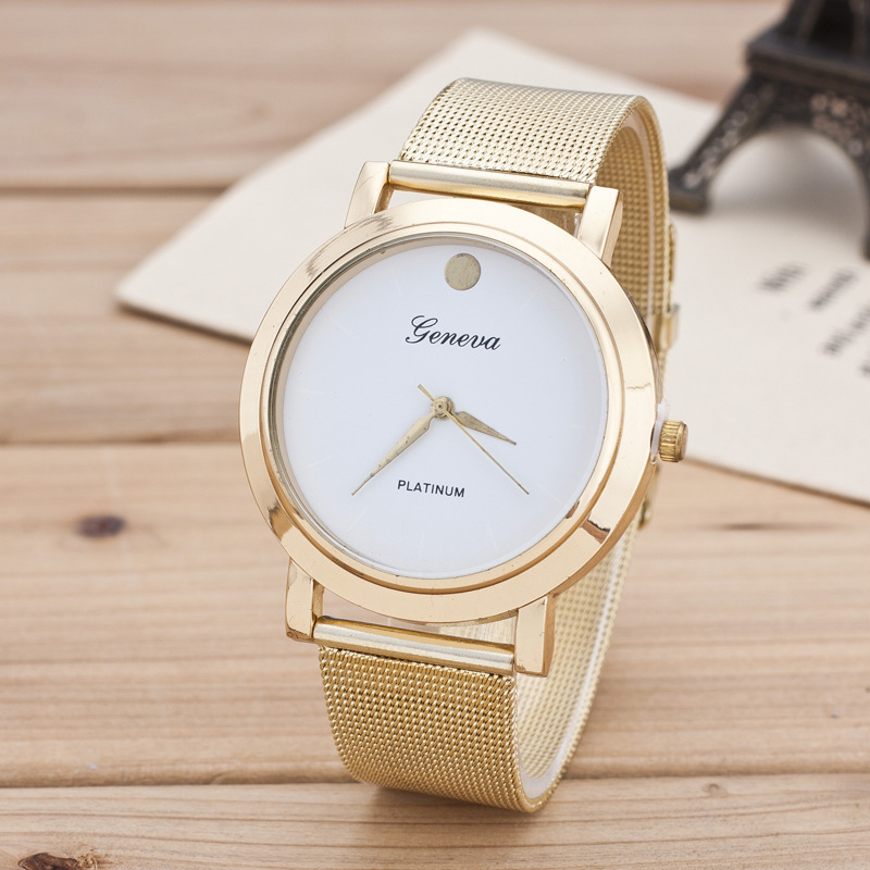 Alloy Mesh Belt Fashion Watch