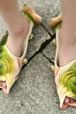 Unique Fish Shape Peep Toe Slippers Sandals