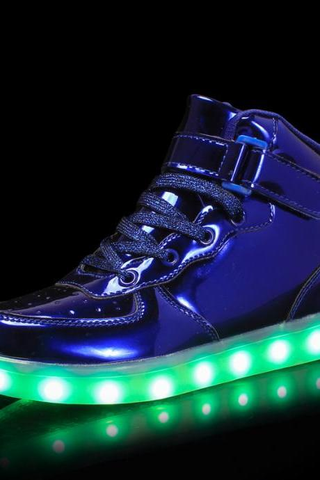 PU Pure color Lace-Up LED Round Toe Boots