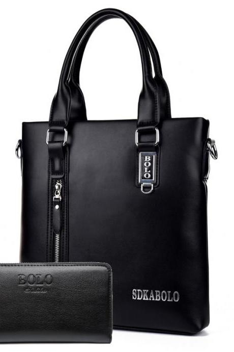 Vertical Type Men's Handbag(Add a man's wallet)