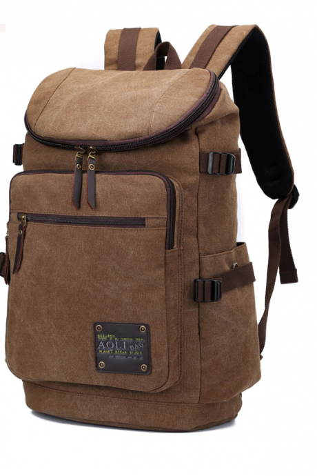 Super large capacity Canvas Soft Durable Men Backpack Bag