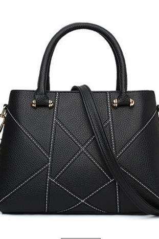 Ladylike Geometric Pattern Women PU Handbag
