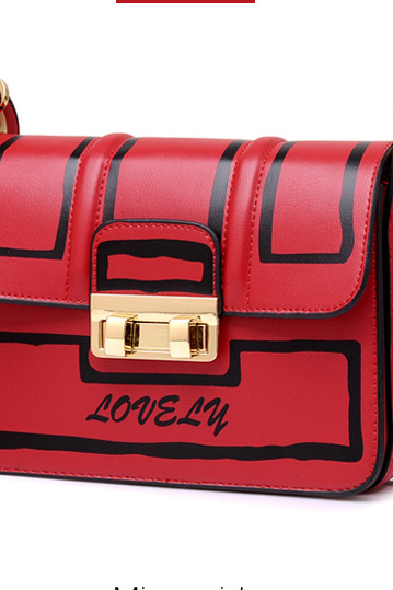All-match Graffiti PU Crossbody Bag
