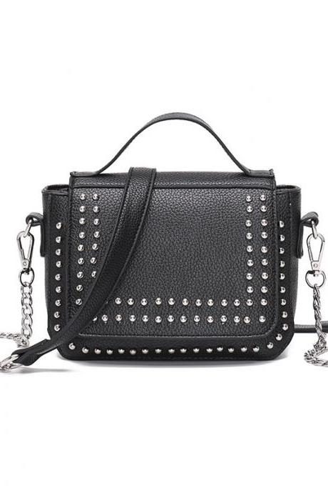 European Style Creative Rivets Square Shape Satchel