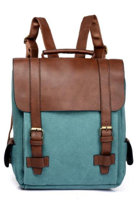Casual Color Block Women PU Backpack