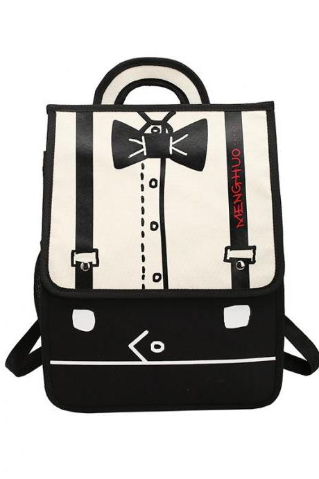 Distinctive Comic Design Women Backpack
