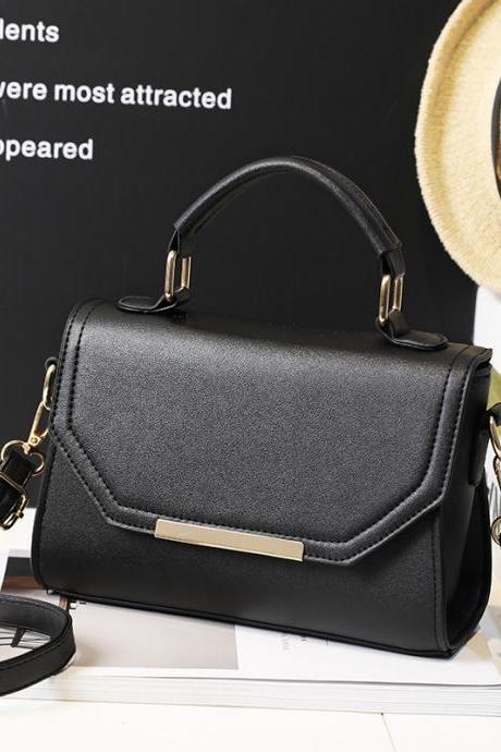 Contracted Solid Color PU Women Satchel