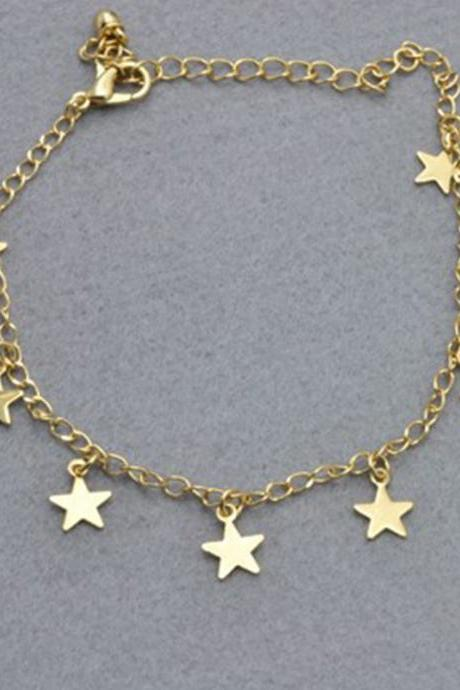 Contracted 8 Loving Star Anklets