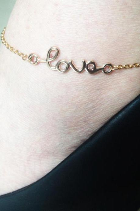 Fashion Joker Letter LOVE Anklets