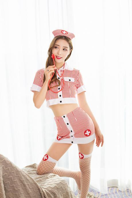 Sexy Nurses wear uniform lure, underwear, stripes, nurses wear.