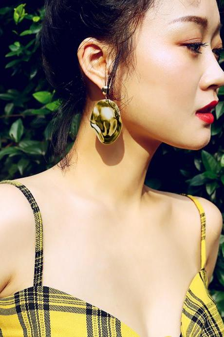 Plain Irregular Original Geometric Earrings