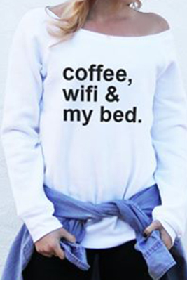 Coffee, Wifi and My Bed Casual Sweater Sweatshirt