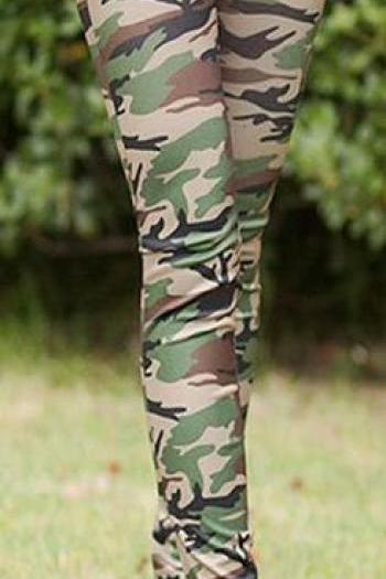 Camouflage Skinny Slim Elastic High Waist Leggings