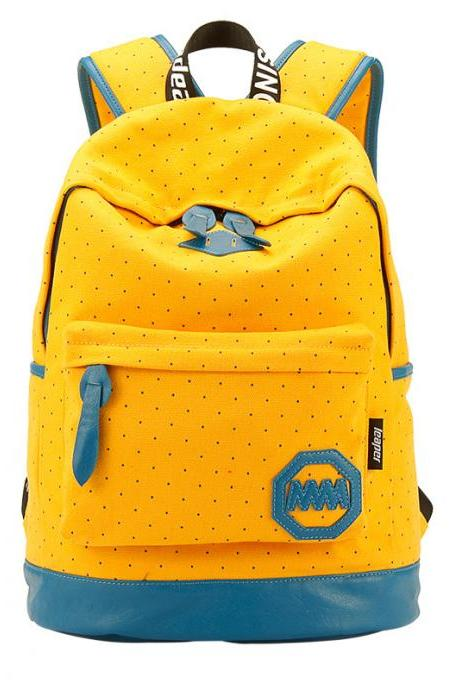 Polka Dot Print Fashion School Backpack Travel Bag