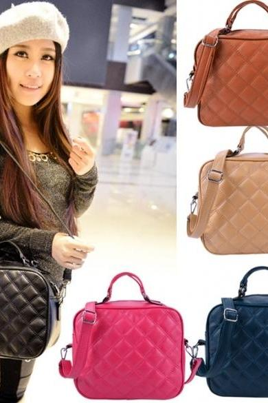 Women's Ladies Retro Bags Shoulder Bag Portable Small Messenger Bags Cross Bag(Only Black)