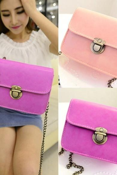 New Fashion Women Synthetic Leather Vintage Style Casual Mini Shoulder Bag Handbag
