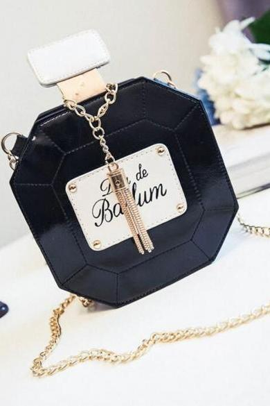 New Fashion Women Synthetic Leather Chain Tassel Handbag Shoulder Bag