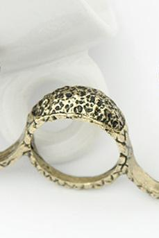 Europe and the Korean high-end fashion retro exaggerated personality Cobra opening ring jewelry accessories
