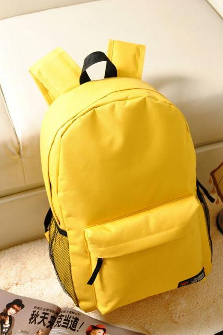 Pure Color Korean Style Flexo Backpack