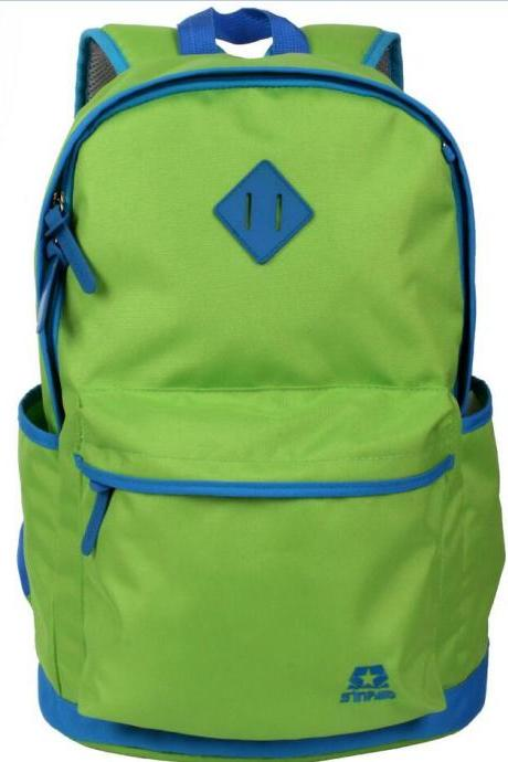 Contrast Color Waterproof Polyester Backpack Bag