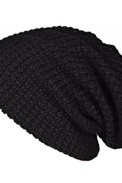 European Unisex Adult Men Women Warm Winter Knit Ski Beanie Slouchy Soft Solid Cap Hat