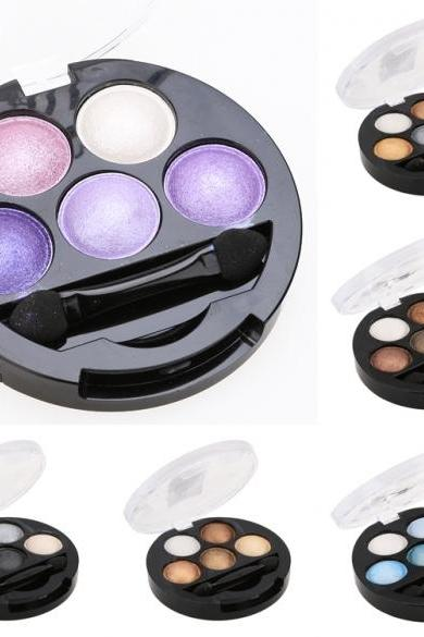 Hot 5 Colors Eye Shadow Creamy Pigment Shimmer Powder Mineral Texture Waterproof Makeup