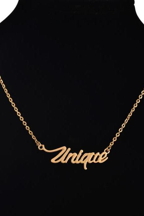 European Fashion Explosion Models Letter Pendant Necklace
