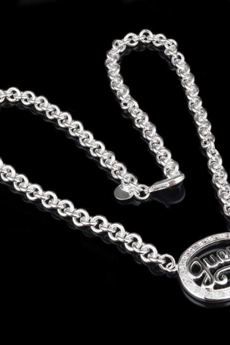 Hot Korean Fashion Exquisite Personalized Silver-Plated Silver Egg-Shaped Necklace