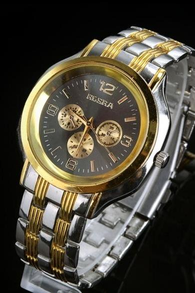 Men Stainless Steel Quartz Wrist Watches Sport Business Quartz Watch Wristwatches