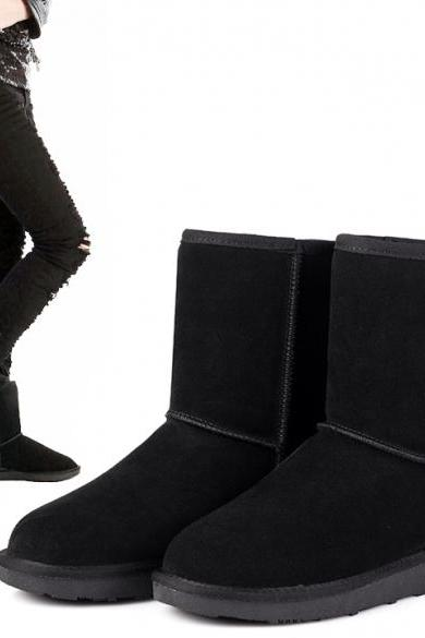 Unisex Winter Warm Snow Half Boots Shoes