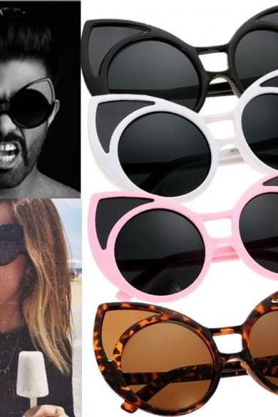Hot Fashion Unisex Cute Animal Shape Round Plastic Frame Casual Outdoor Sunglasses